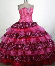Exquisite Ball Gown Strapless Floor-length Quinceanera Dress ZQ12426014
