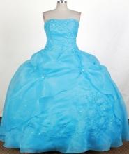Formal  Ball Gown Strapless Floor-length Quinceanera Dress ZQ12426021