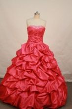 Low price Ball gown Strapless Floor-length Quinceanera Dresses Style FA-W-071
