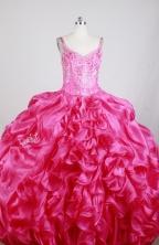 Luxurious Ball Gown Straps Floor-length Florid Quinceanera Dress X0426039