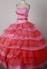 Modest Ball Gown Strapless Floor-length Colorful Quinceanera Dress X04260121