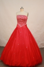 Popular A-line Strapless Floor-length Best Quinceanera Dresses Style FA-W-033