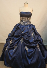 Popular Ball gown Strapless Floor-length Quinceanera Dresses Style FA-W-059