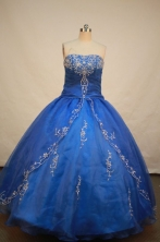 Popular Ball gown Strapless Floor-length Quinceanera Dresses Style FA-W-081