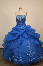 Popular Ball gown Strapless Floor-length Quinceanera Dresses Style FA-W-174