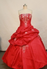 Popular Ball gown Strapless Floor-length Quinceanera Dresses Style FA-W-181