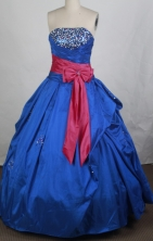 Popular Ball gown Strapless Floor-length Quinceanera Dresses Style FA-W-r67