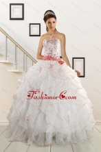 Sweetheart 2015 Elegant Quinceanera Dresses with Appliques and Belt XFNAO172FOR