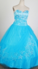 The Most Popular Ball Gown Strapless Floor-length Baby Blue Quinceanera Dress X0426035