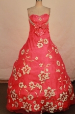 Wonderful A-line sweetheart-neck brush organza coral red quinceanera dresses FA-X-156