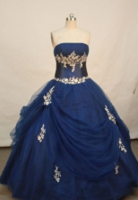 Wonderful Ball gown Strapless Floor-length Quinceanera Dresses Style FA-W-203