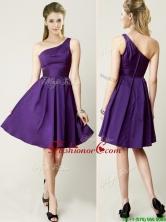 2016 Beautiful One Shoulder Purple Short Prom Dress for Summer BMT0142AFOR