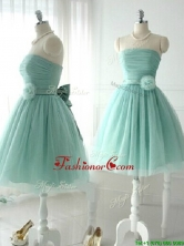 2016 Discount Handcrafted Flower Short Prom Dress in Apple Green BMT0147BFOR