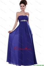 2016 Elegant Strapless Prom Dresses in Royal Blue DBEE001FOR