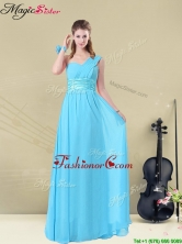 2016 Latest Floor-length One Shoulder Prom Dresses with Belt BMT008-7BFOR