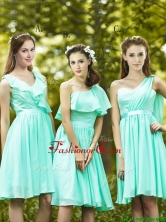 2016 Lovely Belted and Ruched Short Prom Dress in Apple Green BMT0167FOR