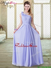 2016 Lovely Empire One Shoulder Prom Dresses in Lavender BMT068CFOR