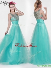 2016 Lovely Empire Scoop Beading Prom Dresses YCPD013FOR