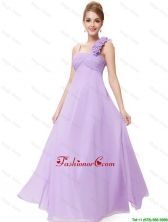 2016 New Style Straps Lavender Prom Dresses with Ruching DBEE029FOR