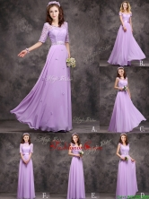 2016 Perfect Applique and Laced Lavender Long Prom Dress in Chiffon BMT0170FOR