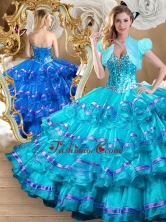 2016 Perfect Ball Gown Sweet 16 Dresses with Ruffled Layers SJQDDT489002-2FOR