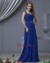 2016 Perfect Straps Beading Long Prom Dresses in Royal Blue DBEE541FOR