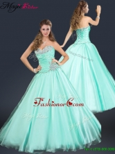 2016 Spring Perfect Sweetheart Beading Prom Dress in Apple Green YCPD004FOR