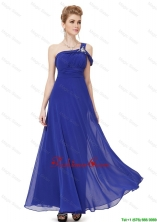 Beautiful Beaded One Shoulder Prom Dresses in Blue DBEE011FOR