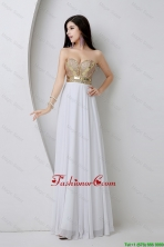 Beautiful Empire Sequined White Prom Dresses with Beading DBEE362FOR