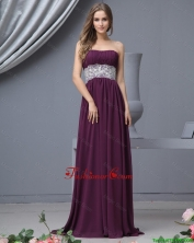 Beautiful Strapless Laced Prom Dresses with Brush Train DBEE495FOR