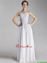 Beautiful Straps Brush Train Prom Gowns with Side Zipper DBEE658FOR