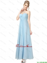 Cheap Ankle Length Sweetheart Prom Dresses in Light Blue DBEE047FOR