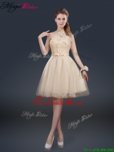 Cheap Strapless Prom Dresses with Appliques and Belt BMT065AFOR