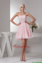 Classical Sweetheart Baby Pink Short Prom Dress with Beading DBEE415FOR