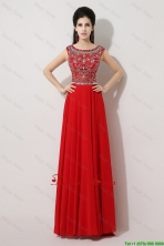 Discount Brush Train Beaded Prom Dresses with Bateau DBEE353FOR