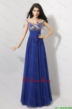 Discount Cap Sleeves Prom Dresses with Appliques and Beading DBEE509FOR