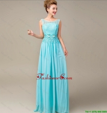 Discount Lace Up Appliques and Laced Prom Dresses in Aqua Blue DBEE023FOR