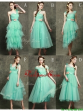 Exclusive Hand Made Flowers Ankle Length Prom Dress in Apple Green BMT095FOR
