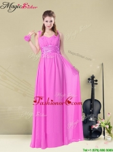Fashionable Empire Straps Prom Dresses with Ruching and Belt BMT008-2EFOR