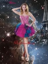 Hot Sale Short Beading Multi Color 2016 Prom Dresses QDDTA106003FOR