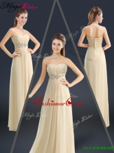 Latest Sweetheart Beading Prom Dresses in Champagne YCPD035FOR