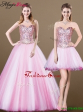 Lovely A Line Sweetheart Beading Detachable Prom Dresses for 2016 YCPD049FOR