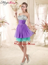Low Price Sweetheart Short Prom Dresses with Sequins and Belt BMT002E-3FOR