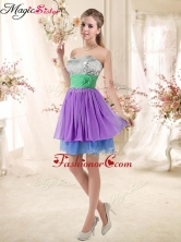 Most Popular Sweetheart Multi Color Short Prom Dresses with Sequins BMT002E-8FOR