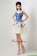 New Arrivals A Line Bateau Prom Dresses with Appliques DBEE364FOR