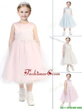 New Arrivals Scoop Little Girl Pageant Dress with Appliques and Beading THLG021FOR