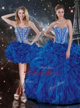 New Style Sweetheart Detachable Beading Quinceanera Dresses in Blue QDDTA107001FOR
