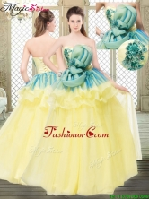Perfect A Line Strapless Prom  Dresses with Bowknot and Ruffles YCQD059FOR