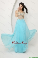 Perfect Beaded Straps Zipper Up Prom Dresses with Cap Sleeves DBEE071FOR