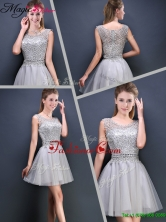Perfect Mini Length Scoop Prom Dresses with Appliques YCPD032FOR